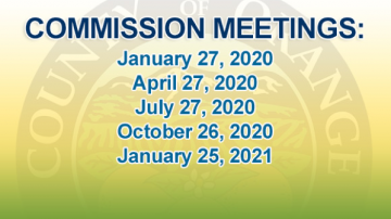 Commission Meetings: January 27, 2020; April 27, 2020; July 27, 2020; October 26, 2020; January 25, 2021
